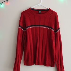 Red Vintage Long Sleeved Sweater
